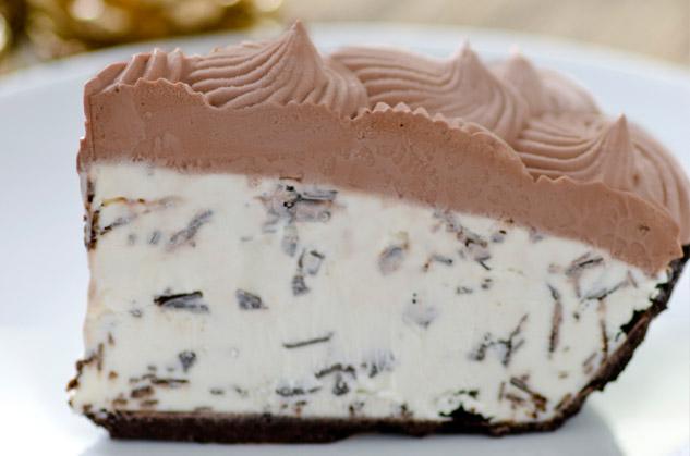 Mint Chocolate Chip Gelato Pie