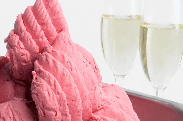 Strawberry Sparkling Wine Sorbetto