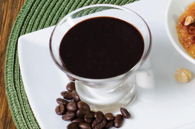 Coffee Pannacotta Verrine with Chocolate Topping