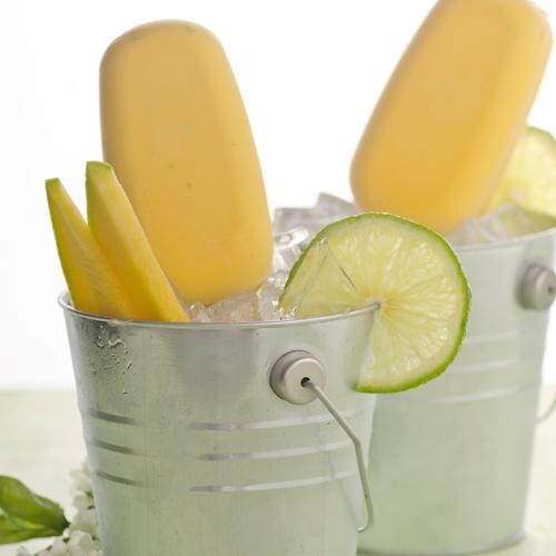 Mango Lime Frozen Pops