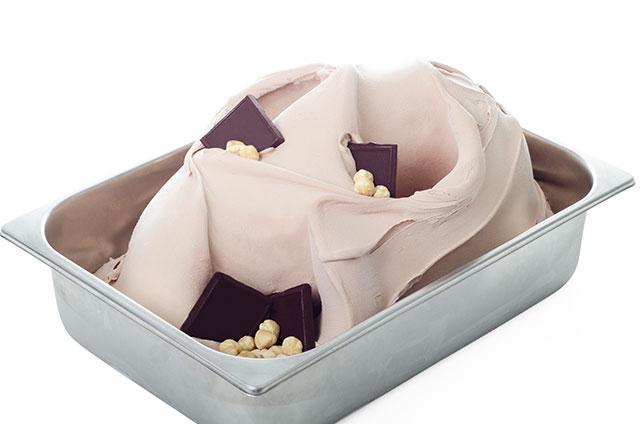 Chocolate-Hazelnut Gelato Base Natural Zero E