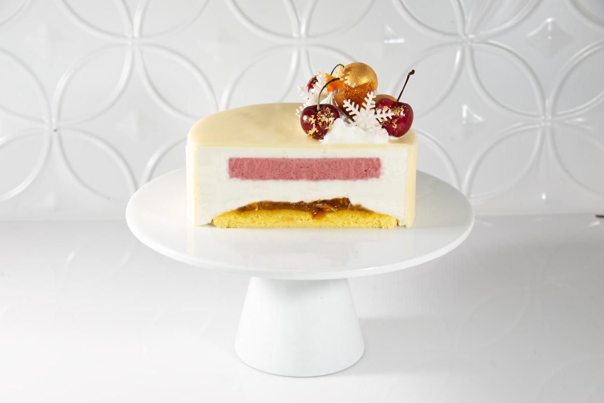 Cherry Orange Champagne Frozen Cake